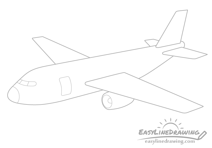 Airplane front details drawing