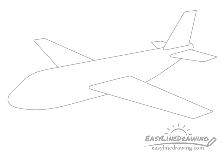 Airplane horizontal stabilizers drawing