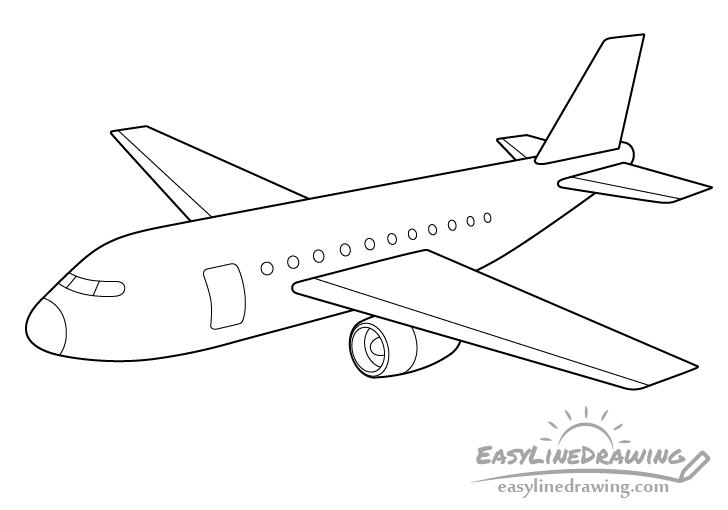 Airplane line drawing