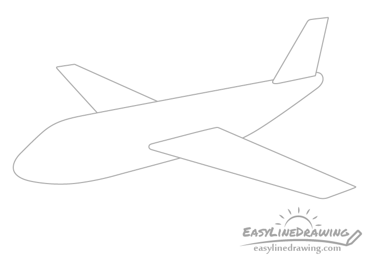 Airplane vertical stabilizer drawing