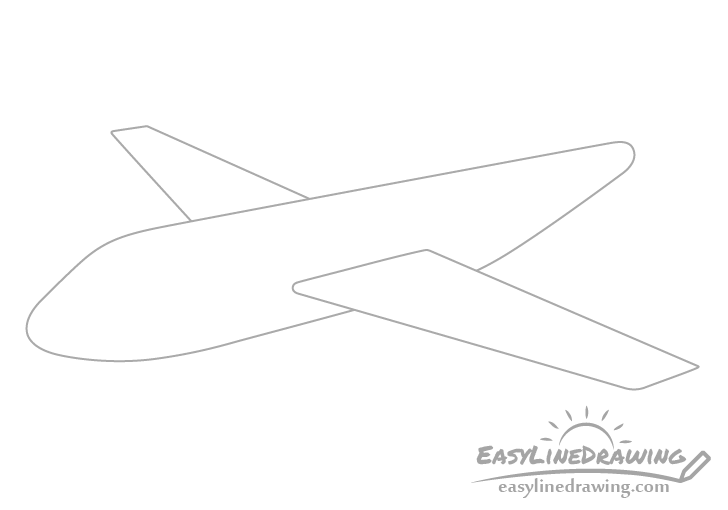 Airplane wings drawing