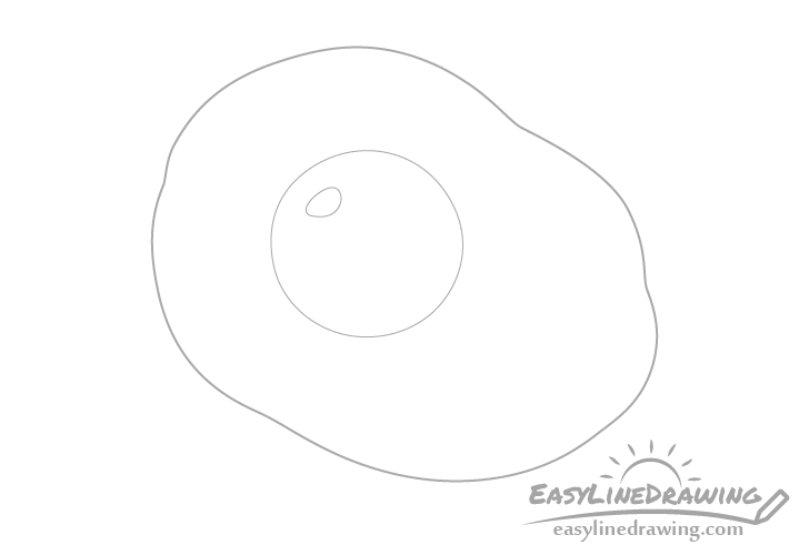 Fried egg line drawing