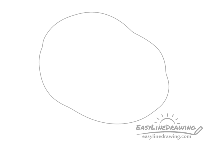 Fried egg outline drawing