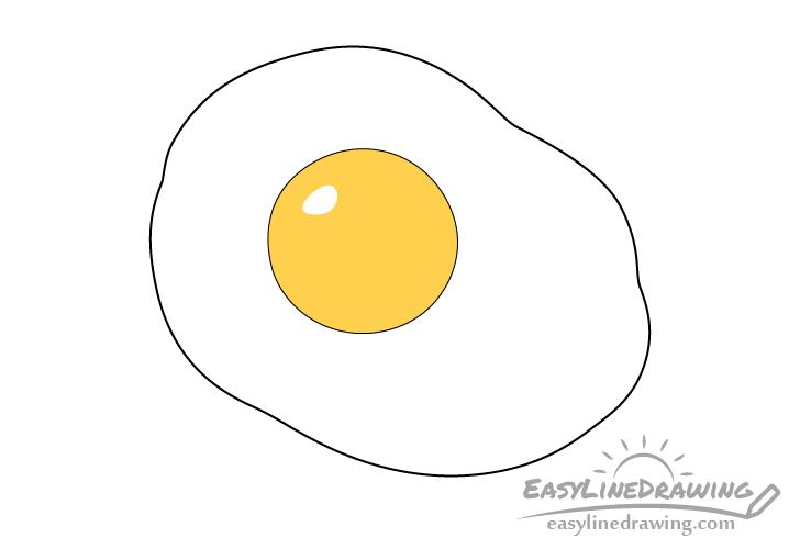 Fried egg yolk coloring