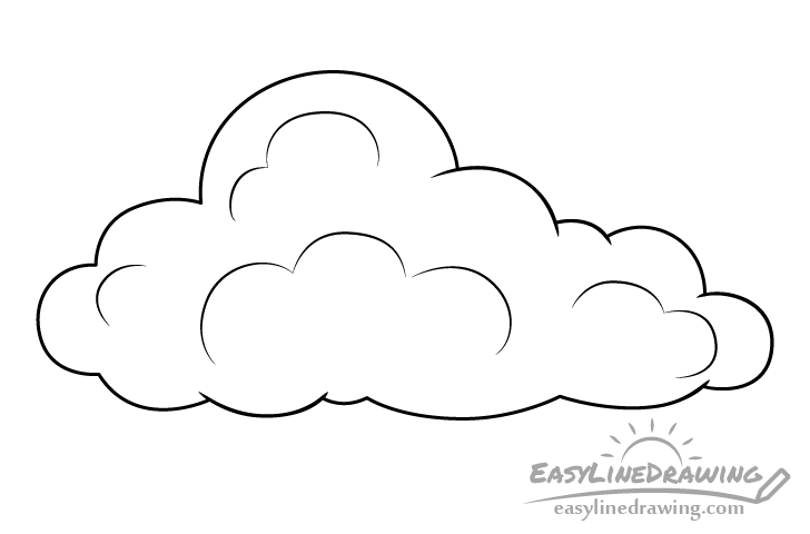 Cloud line drawing