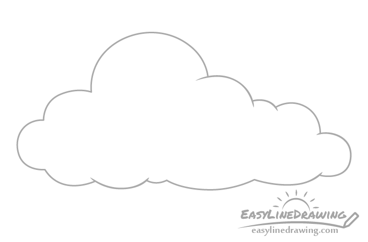 Cloud outline drawing