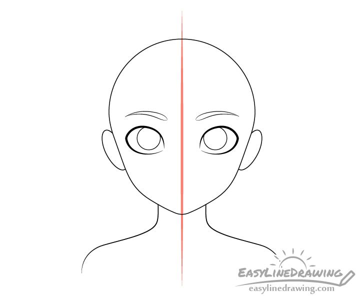 Girl eyebrows drawing
