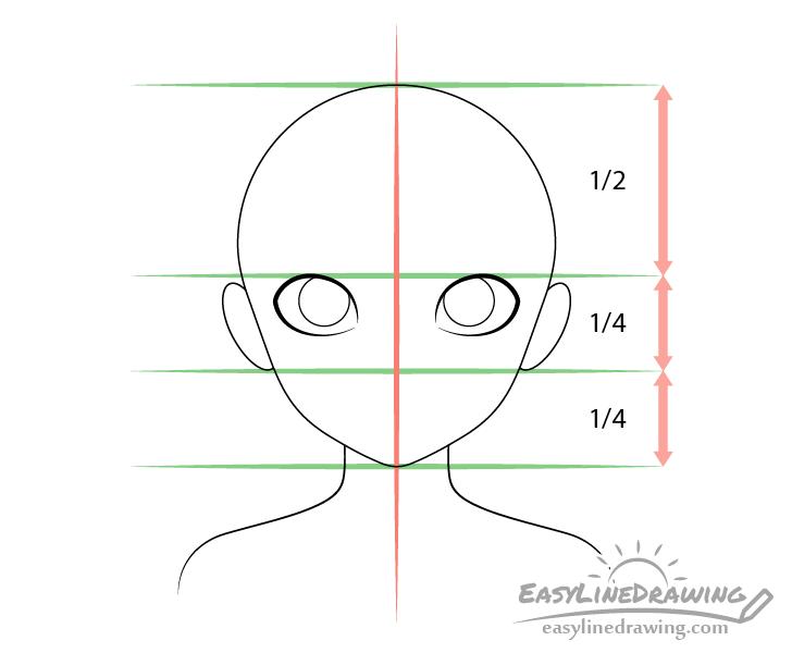 Girl eyes drawing