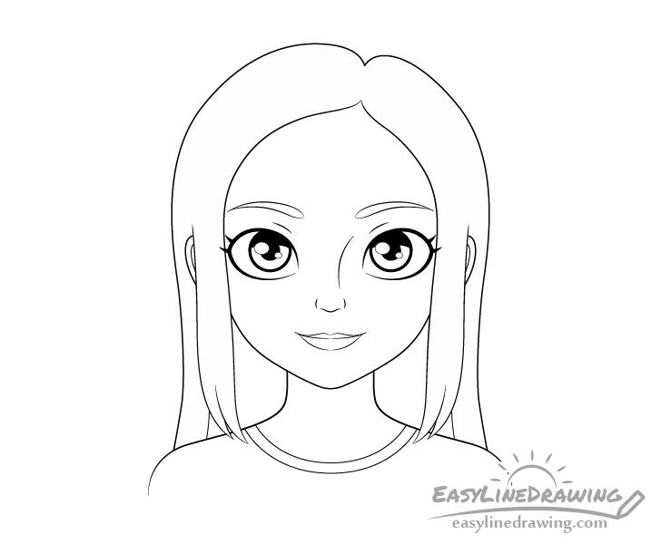 Girl line drawing