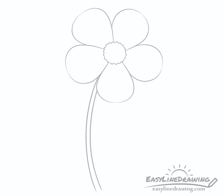 Flower stem drawing