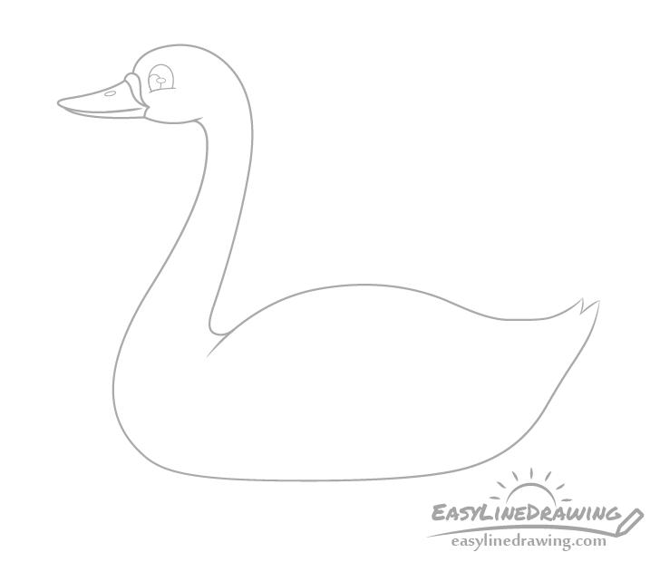 Swan eye drawing