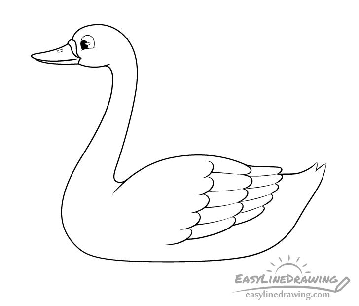 Swan line drawing