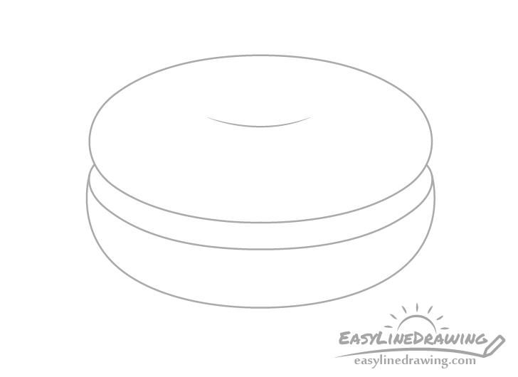 Bagel bottom slice drawing