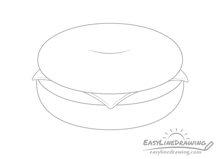 Bagel cheese drawing