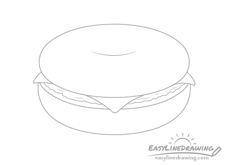 Bagel cream cheese drawing