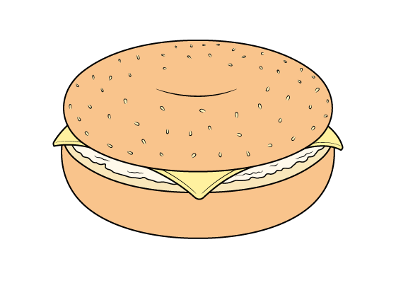 Bagel drawing tutorial
