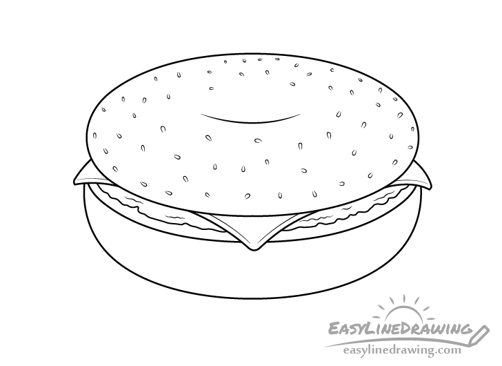 Bagel line drawing