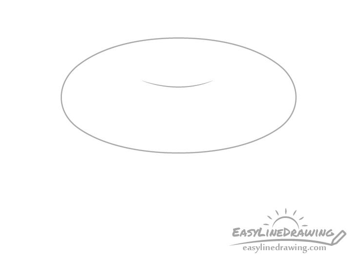 Bagel top slice drawing