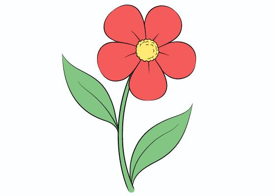 Flower drawing tutorial