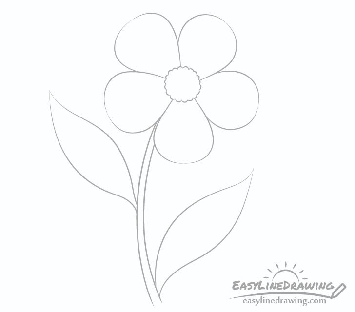 Flower leaves drawing