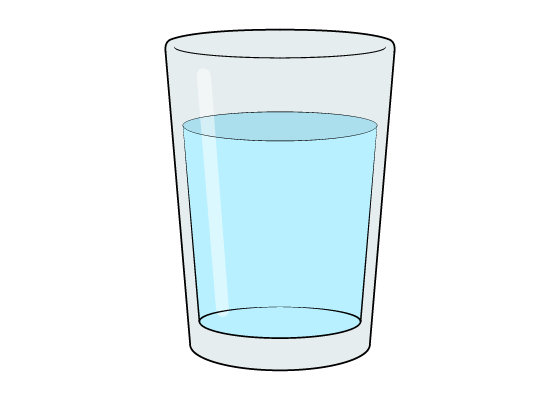 Glass of water drawing tutorial