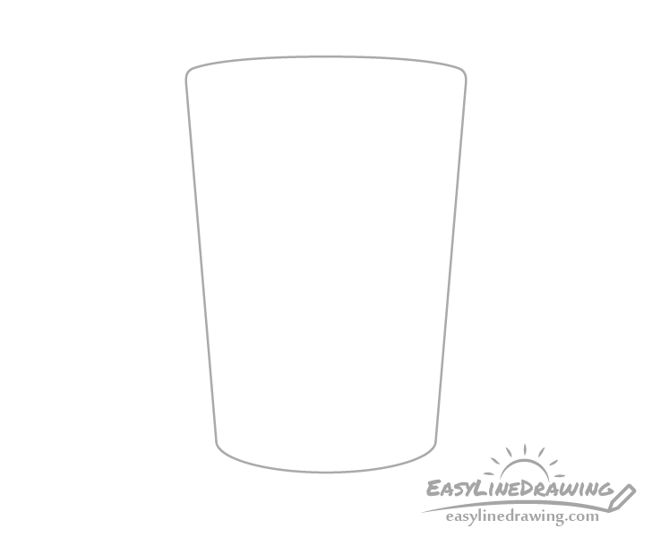 Glass of water silhouette drawing