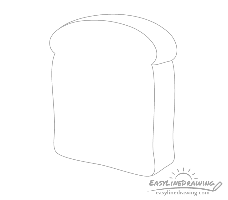 Bread slice crust drawing