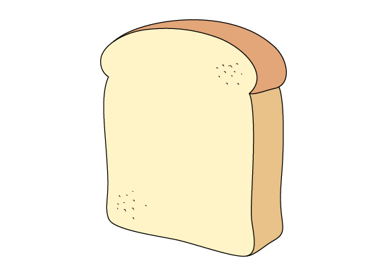 Bread slice drawing tutorial