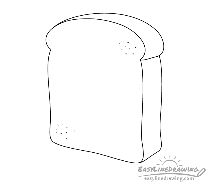Bread slice line drawing