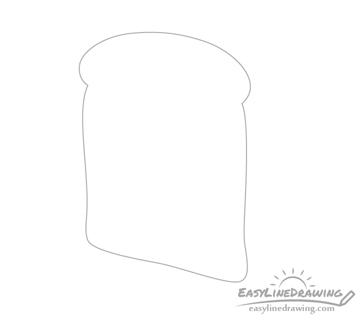 Bread slice outline drawing