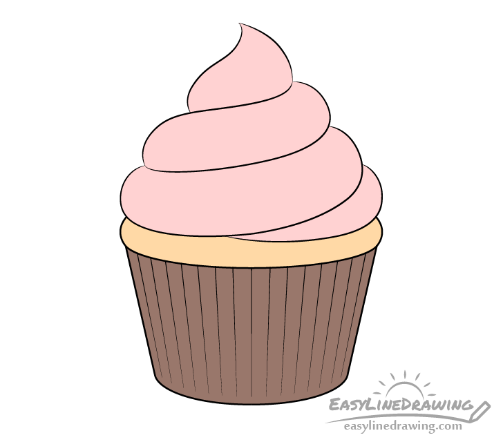 Cupcake drawing