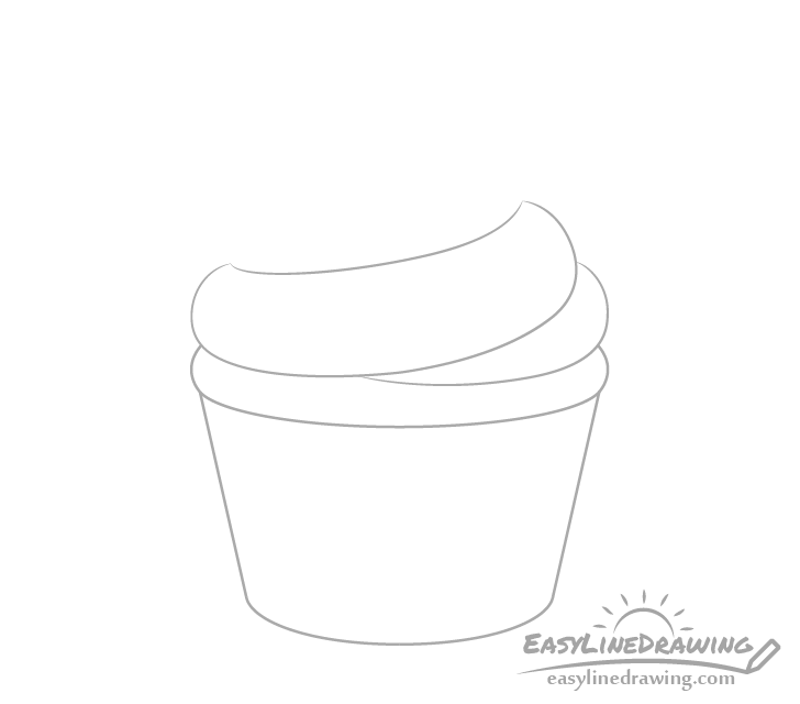 Cupcake frosting base drawing