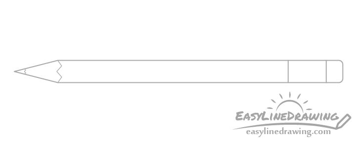 Drawing of eraser holder