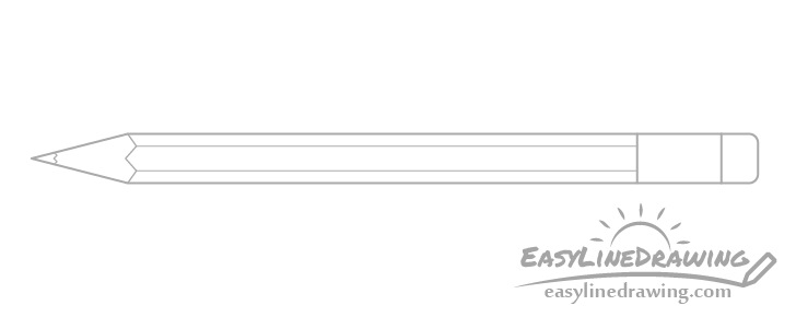 Drawing of pencil edges