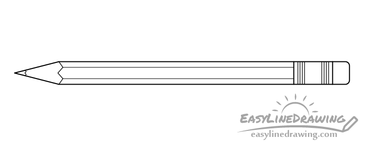 Line drawing of a pencil