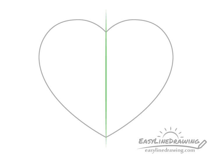 Heart outline drawing