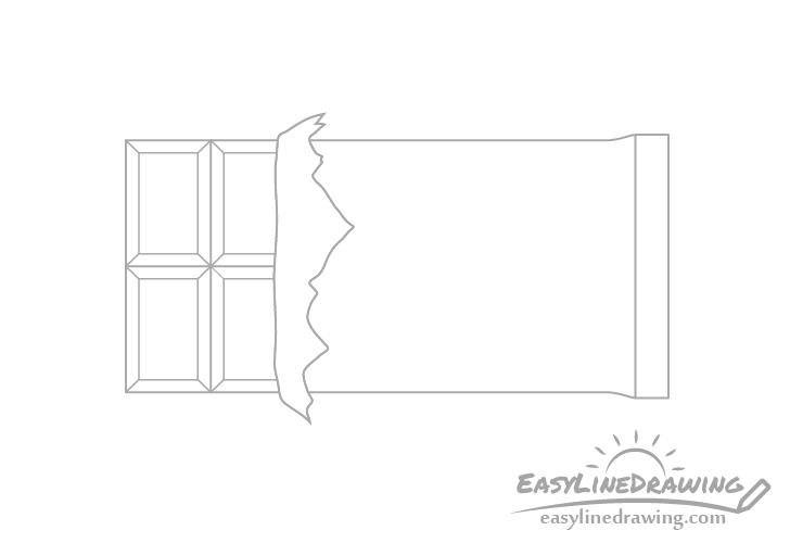 Chocolate bar corners drawing