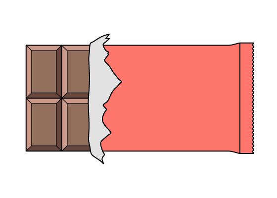 Chocolate bar drawing tutorial