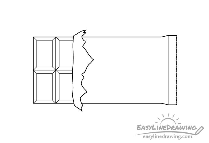 Chocolate bar line drawing