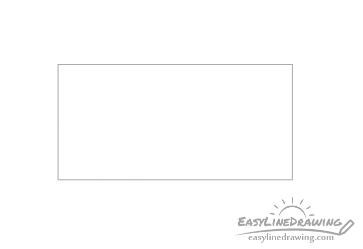 Chocolate bar outline drawing