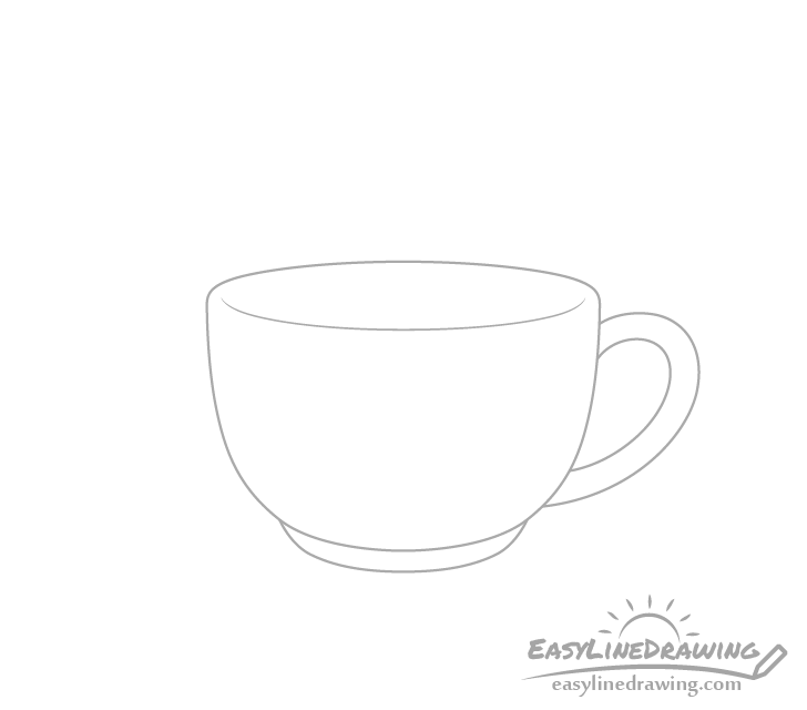 Coffee cup handle drawing