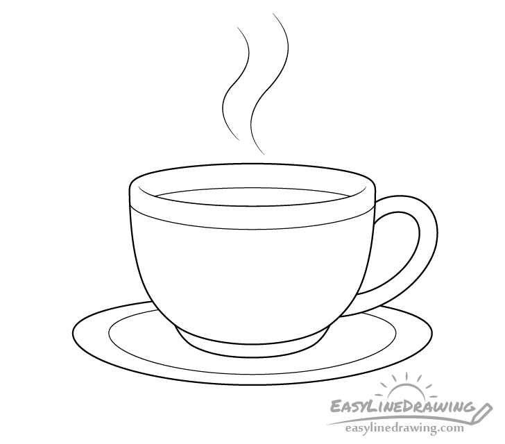 Coffee cup line drawing