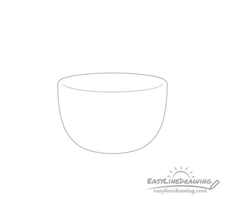 Coffee cup outline drawing