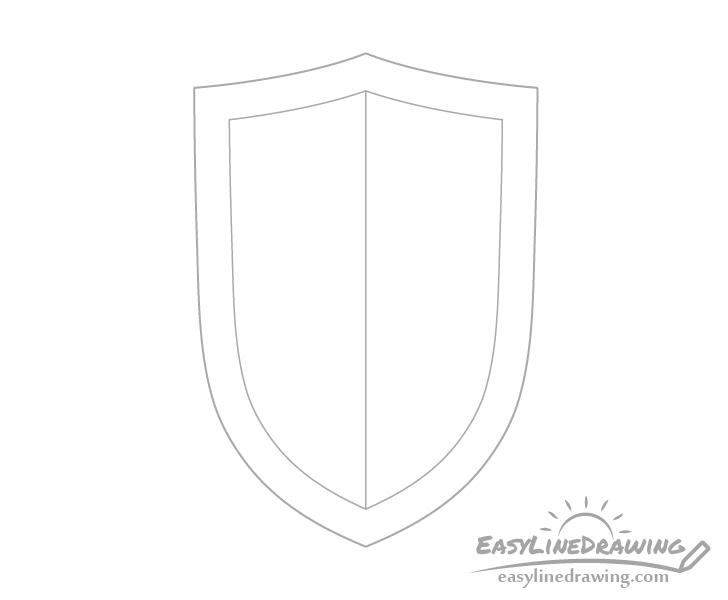 Shield edge drawing