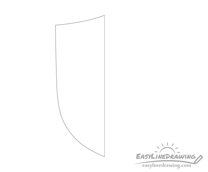 Shield half drawing