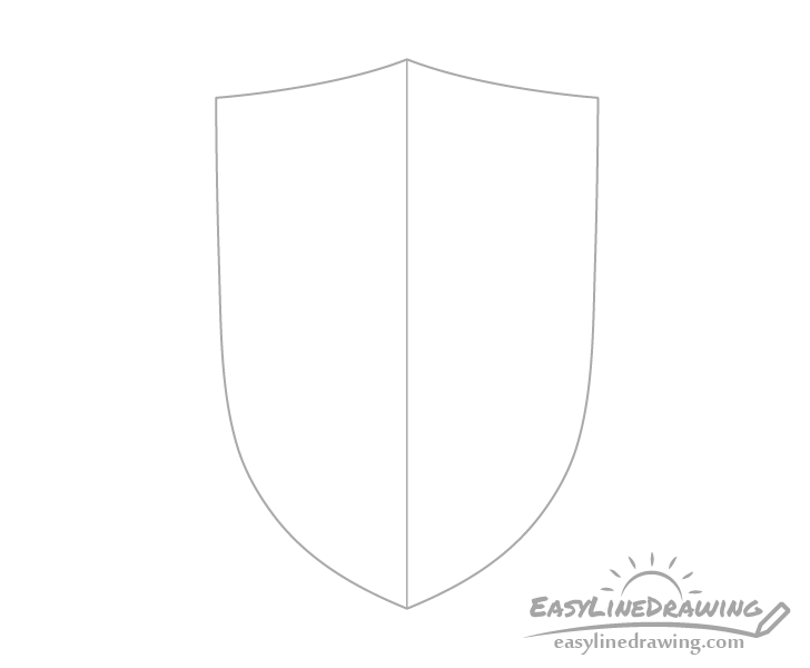 Shield outline drawing