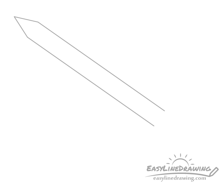 Sword blade drawing