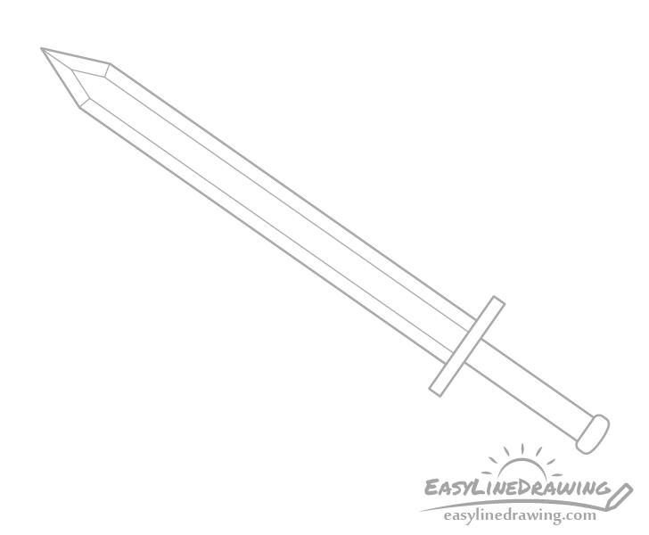Sword edge corners drawing