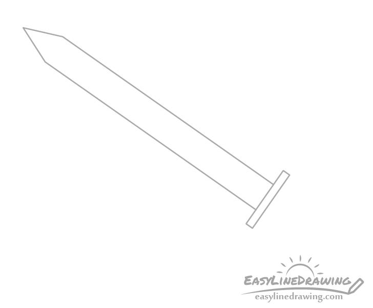 Sword guard drawing
