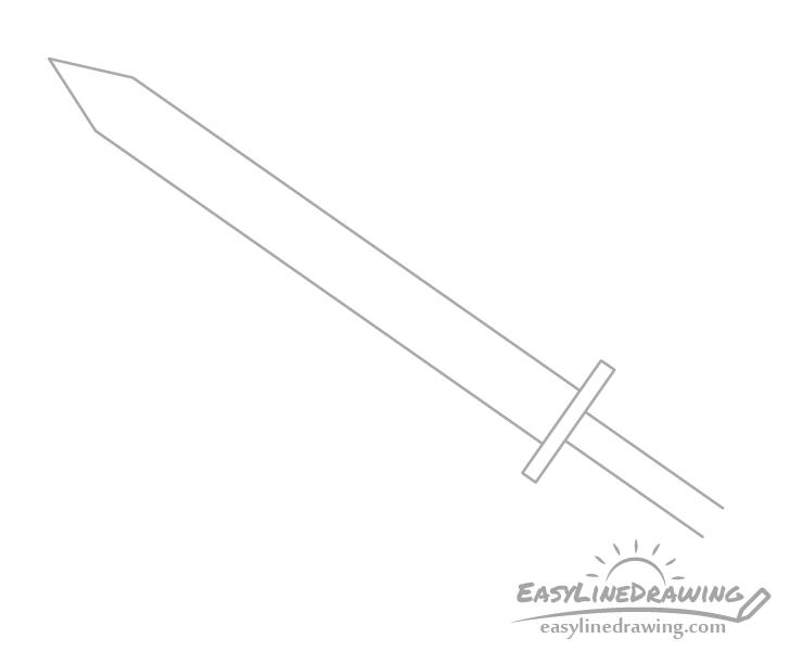 Sword hilt drawing